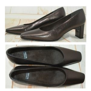 Stuart Weitzman Brown Square Toe Pumps 5.5 B